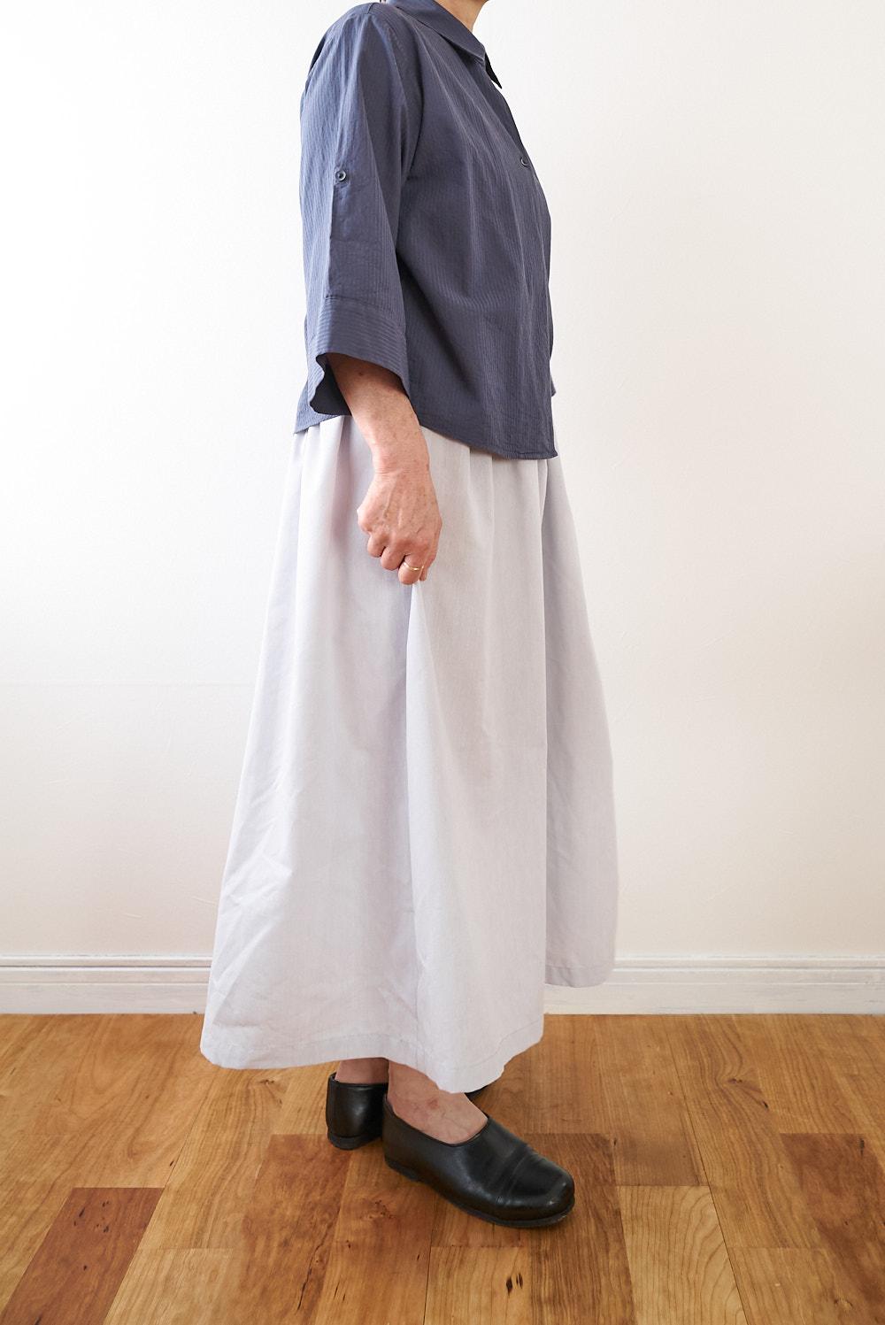 スカートの作り方 型紙 綿ポリダンガリー