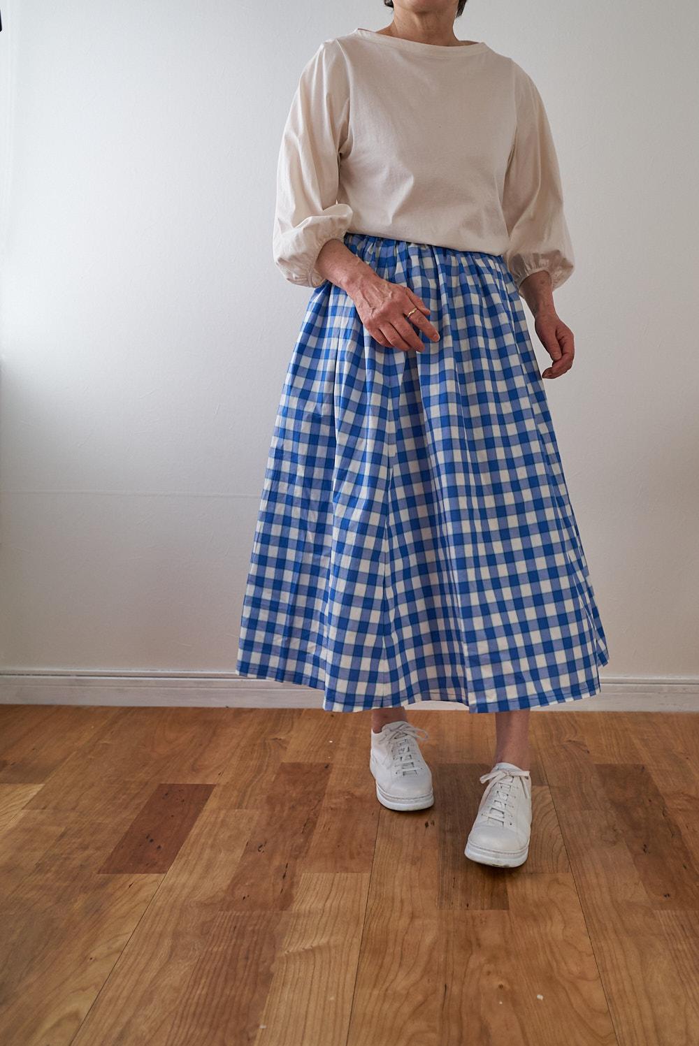 スカートの作り方 型紙 コットン レトロ チェック